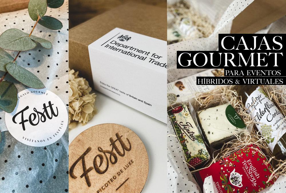 Conoce lo que hacemos. Festt, cajas gourmet para eventos online.